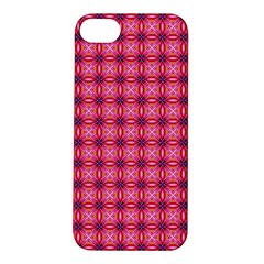 Abstract Pink Floral Tile Pattern Apple Iphone 5s Hardshell Case