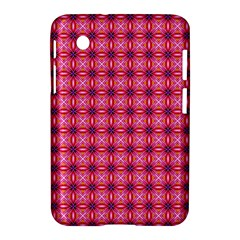 Abstract Pink Floral Tile Pattern Samsung Galaxy Tab 2 (7 ) P3100 Hardshell Case