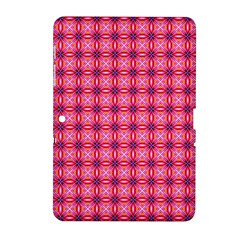 Abstract Pink Floral Tile Pattern Samsung Galaxy Tab 2 (10.1 ) P5100 Hardshell Case