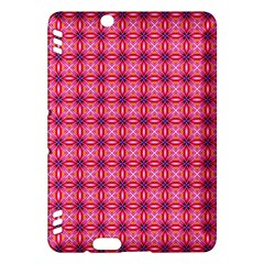 Abstract Pink Floral Tile Pattern Kindle Fire HDX Hardshell Case