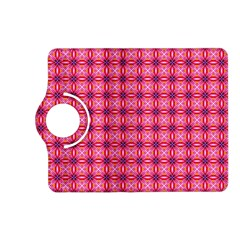 Abstract Pink Floral Tile Pattern Kindle Fire Hd (2013) Flip 360 Case
