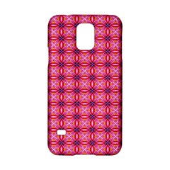Abstract Pink Floral Tile Pattern Samsung Galaxy S5 Hardshell Case