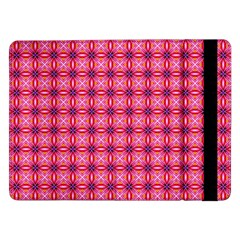 Abstract Pink Floral Tile Pattern Samsung Galaxy Tab Pro 12 2  Flip Case
