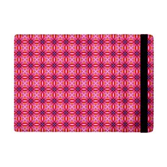 Abstract Pink Floral Tile Pattern Apple iPad Mini 2 Flip Case