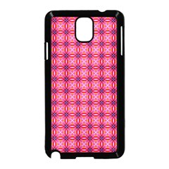 Abstract Pink Floral Tile Pattern Samsung Galaxy Note 3 Neo Hardshell Case (black)