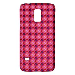 Abstract Pink Floral Tile Pattern Samsung Galaxy S5 Mini Hardshell Case