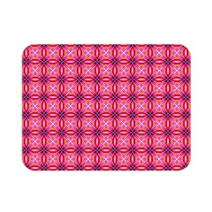 Abstract Pink Floral Tile Pattern Double Sided Flano Blanket (mini)