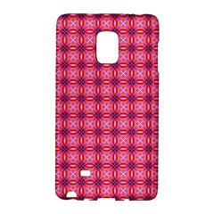 Abstract Pink Floral Tile Pattern Samsung Galaxy Note Edge Hardshell Case