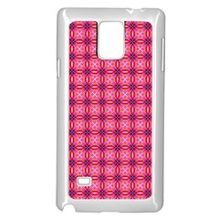 Abstract Pink Floral Tile Pattern Samsung Galaxy Note 4 Case (white)