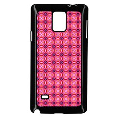 Abstract Pink Floral Tile Pattern Samsung Galaxy Note 4 Case (black)