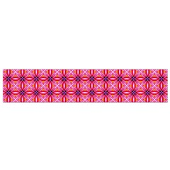 Abstract Pink Floral Tile Pattern Flano Scarf (small)
