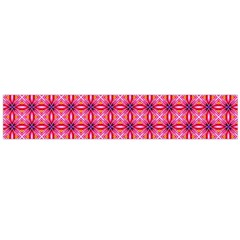 Abstract Pink Floral Tile Pattern Flano Scarf (large)