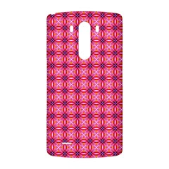 Abstract Pink Floral Tile Pattern LG G3 Back Case