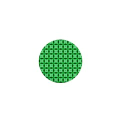Green Abstract Tile Pattern 1  Mini Button