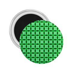 Green Abstract Tile Pattern 2 25  Button Magnet