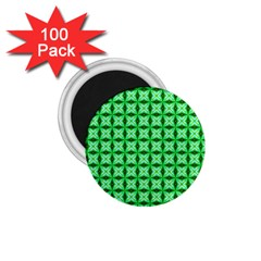 Green Abstract Tile Pattern 1 75  Button Magnet (100 Pack)