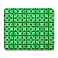 Green Abstract Tile Pattern Large Mouse Pad (rectangle)