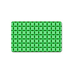 Green Abstract Tile Pattern Magnet (name Card)