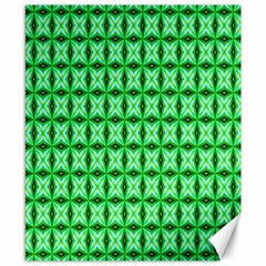 Green Abstract Tile Pattern Canvas 8  X 10  (unframed)