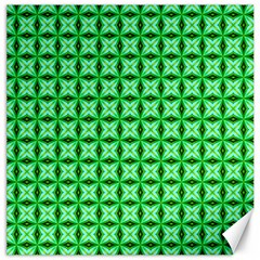 Green Abstract Tile Pattern Canvas 12  X 12  (unframed)