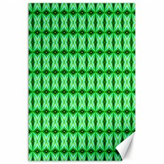 Green Abstract Tile Pattern Canvas 20  x 30  (Unframed)