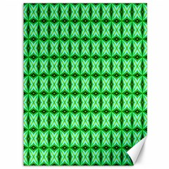 Green Abstract Tile Pattern Canvas 36  x 48  (Unframed)