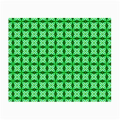 Green Abstract Tile Pattern Glasses Cloth (small, Two Sided)