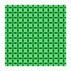 Green Abstract Tile Pattern Glasses Cloth (medium, Two Sided)