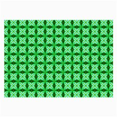 Green Abstract Tile Pattern Glasses Cloth (Large, Two Sided)