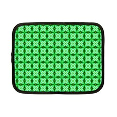 Green Abstract Tile Pattern Netbook Sleeve (small)