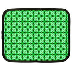 Green Abstract Tile Pattern Netbook Sleeve (large)