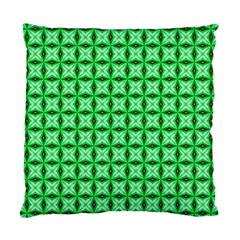 Green Abstract Tile Pattern Cushion Case (two Sided)