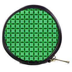 Green Abstract Tile Pattern Mini Makeup Case
