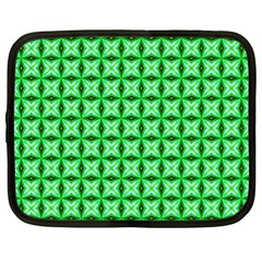 Green Abstract Tile Pattern Netbook Sleeve (xl)