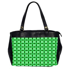 Green Abstract Tile Pattern Oversize Office Handbag (two Sides)
