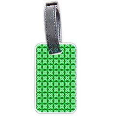 Green Abstract Tile Pattern Luggage Tag (two Sides)