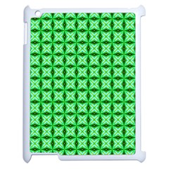 Green Abstract Tile Pattern Apple Ipad 2 Case (white)
