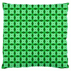 Green Abstract Tile Pattern Large Cushion Case (two Sided)