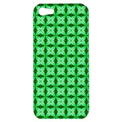 Green Abstract Tile Pattern Apple Iphone 5 Hardshell Case