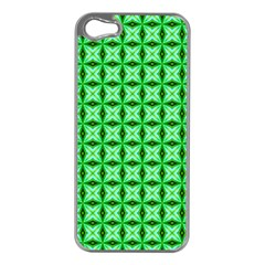 Green Abstract Tile Pattern Apple Iphone 5 Case (silver)