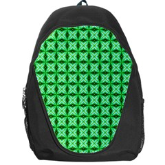 Green Abstract Tile Pattern Backpack Bag