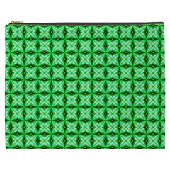 Green Abstract Tile Pattern Cosmetic Bag (xxxl)