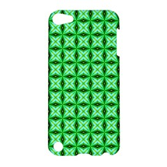 Green Abstract Tile Pattern Apple Ipod Touch 5 Hardshell Case