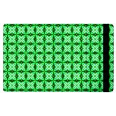 Green Abstract Tile Pattern Apple Ipad 3/4 Flip Case