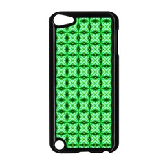 Green Abstract Tile Pattern Apple Ipod Touch 5 Case (black)