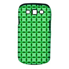 Green Abstract Tile Pattern Samsung Galaxy S Iii Classic Hardshell Case (pc+silicone)