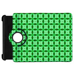 Green Abstract Tile Pattern Kindle Fire Hd Flip 360 Case