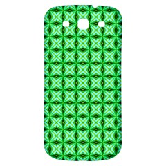 Green Abstract Tile Pattern Samsung Galaxy S3 S Iii Classic Hardshell Back Case