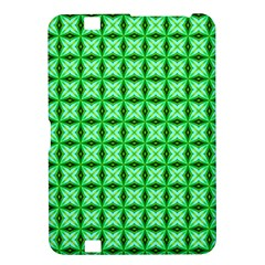Green Abstract Tile Pattern Kindle Fire Hd 8 9  Hardshell Case