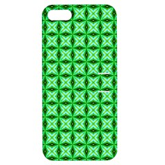 Green Abstract Tile Pattern Apple Iphone 5 Hardshell Case With Stand